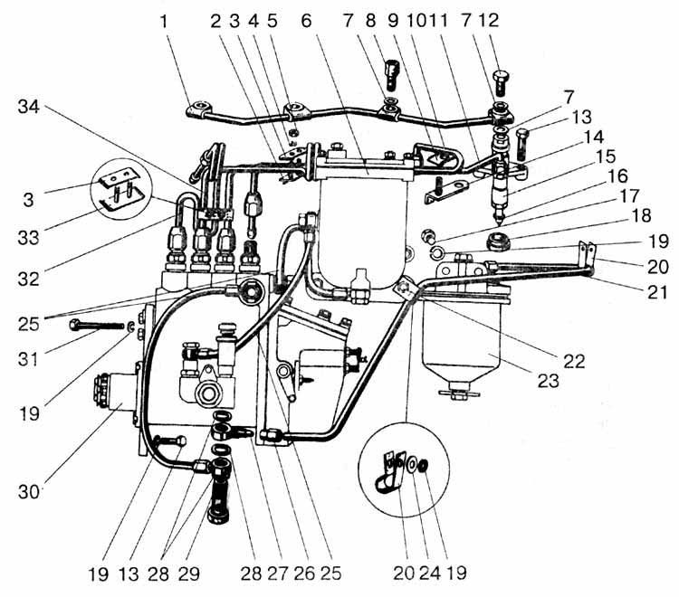 massey ferguson fuel injector pump diagram